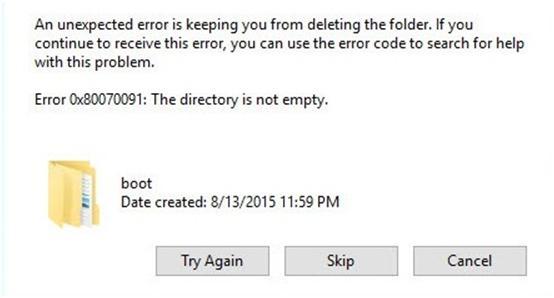 Error 0x80070091