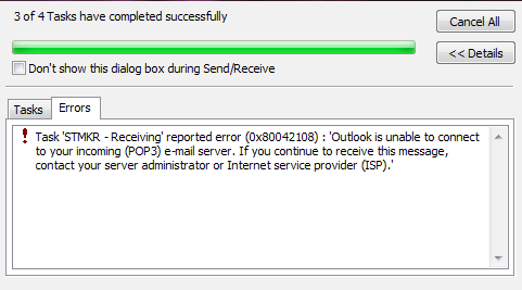 Error 0x80042108 – Microsoft Outlook – Earth's Lab