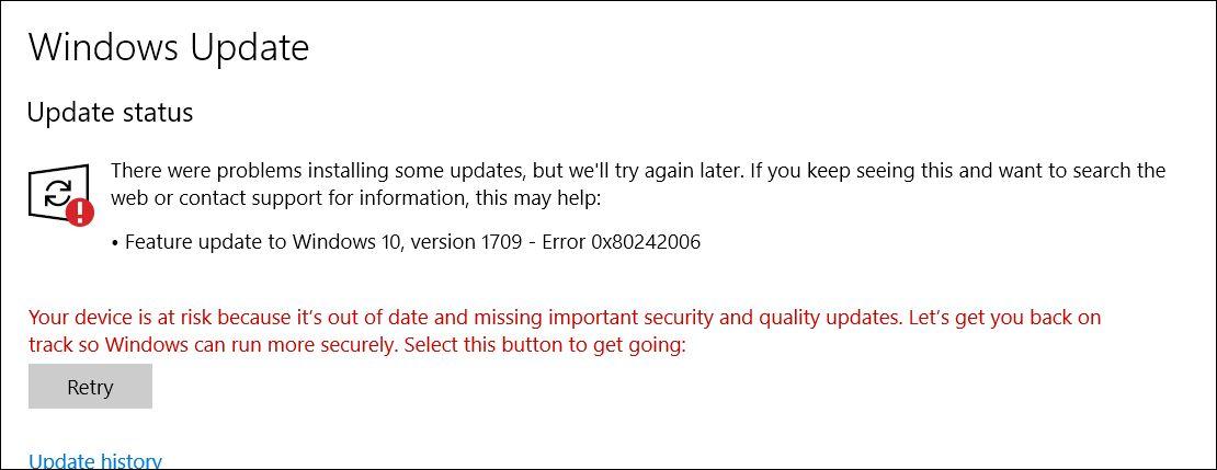 Error 0x80242006 - Windows Update