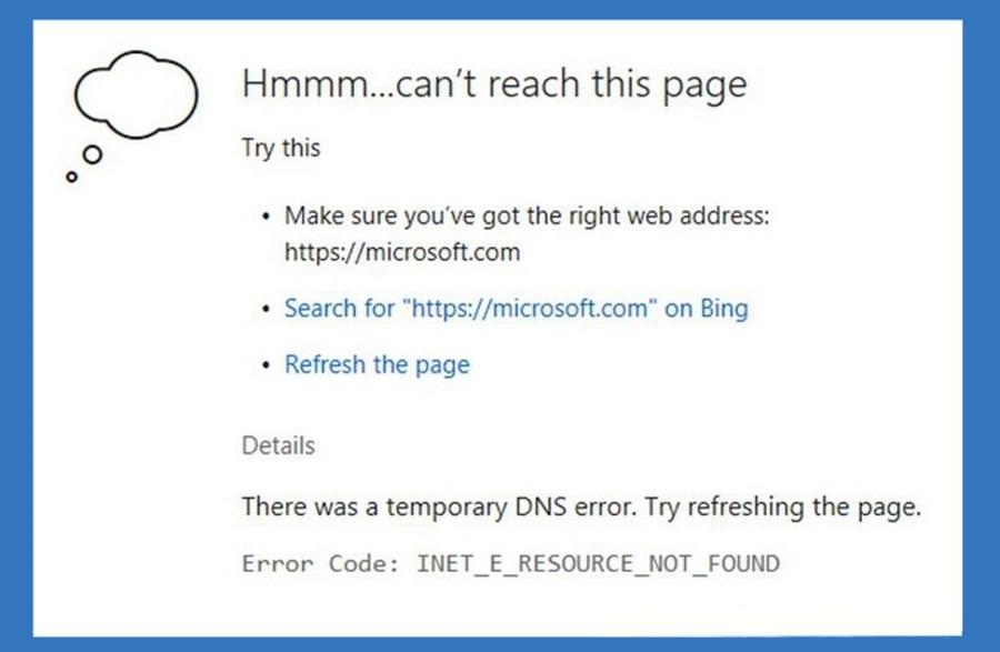 INET_E_RESOURCE_NOT_FOUND Error