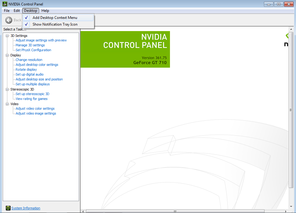 NVIDIA Control Panel Missing – Earth's Lab