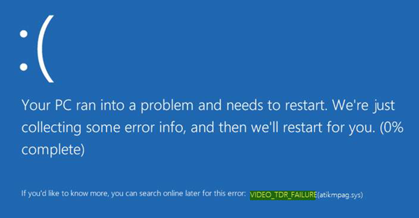 Fix VIDEO_TDR_FAILURE error