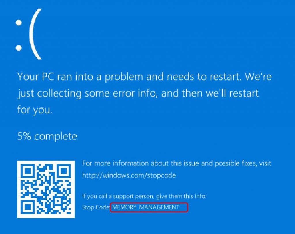 Memory_Management BSOD Error